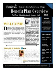 Benefit Plan Overview Full Time Administrative & Support Staff