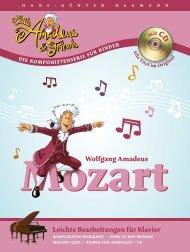 Wolfgang Amadeus Leichte Bearbeitungen für Klavier