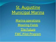 St. Augustine Mooring Field Pilot Program - St. Johns County ...