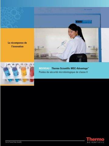 NOUVEAU ! Thermo Scientific MSC-Advantage™ Postes de sécurité ...