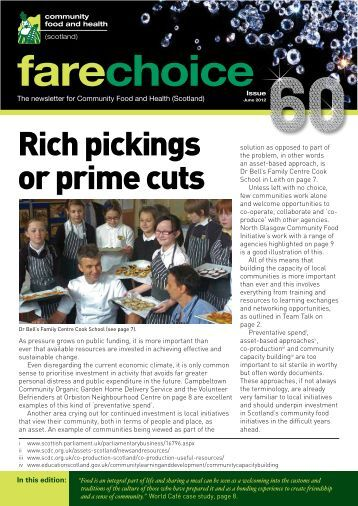 Fare Choice Issue 60 - Community Food and Health