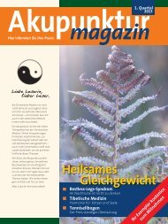 Akupunktur Magazin Januar 2013