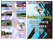 Heating & Cooling Inventory Surplus Sale