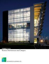 école nationale de cirque casestudy - Advanced Glazings Ltd.