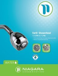 Earth® Showerhead - Niagara Conservation