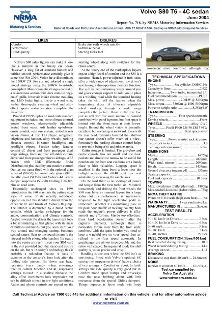 Volvo S80 T6 - 4C sedan