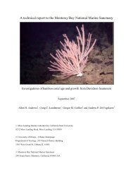 A technical report to the Monterey Bay National
