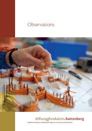 Observations - Stiftung Fondation Battenberg