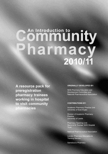 Community Pharmacy - General Pharmaceutical Council