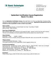 SpiderAlert Certification Course Registration March 7-9, 2012