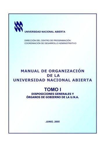 MANUAL UNA TOMO I _ÓRGANOS DE GOBIERNO_ Junio 2005.pdf