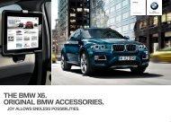THE BMW X. ORIGINAL BMW ACCESSORIES. For an - BMW.com