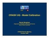 CRASH UQ - Model Calibration - AOSS Research