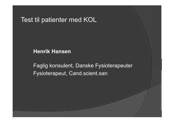 Test til patienter med KOL