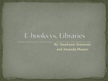 E-books vs. Libraries