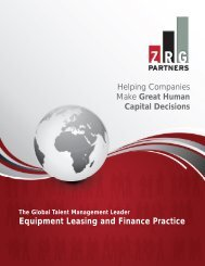 Equipment Leasing and Finance Brochure - ZRG Partners