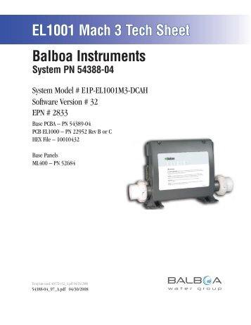54388-04, E1P-EL1001M3-DCAH - Balboa Direct