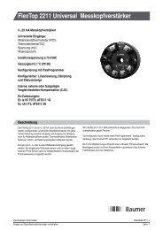 FlexTop 2211 Universal Messkopfverstärker - Baumer