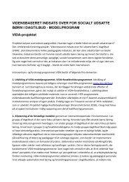 Resumé af VIDA-projektet - Social