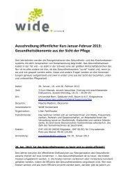 Ausschreibung öffentlicher Kurs Januar-Februar 2013 ... - Wide