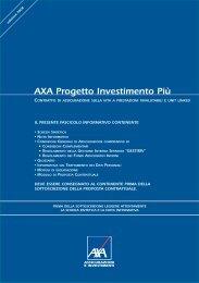 FAC-SIMILE AXA Progetto Investimento Più PROPOSTA ...