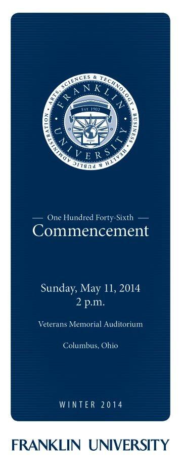 Commencement - Franklin University