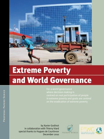 Extreme Poverty and World Governance [pdf] - Forum for a new ...