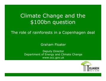 Climate Change and the $100 Billion - Electricity Policy Research ...