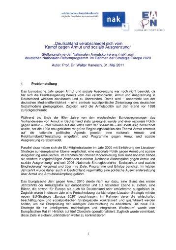 Stellungnahme der Nationalen Armutskonferenz zur ...