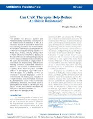 Can CAM Therapies Help Reduce Antibiotic ... - Thorne Research