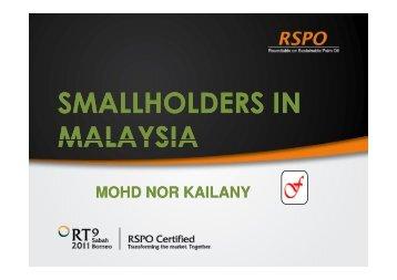 SMALLHOLDERS IN MALAYSIA