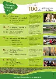 8. - 10. Weinfest - Weingut Altes Schlösschen