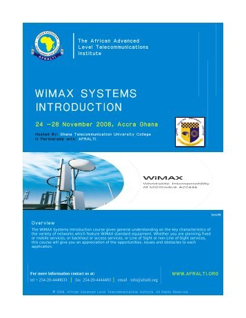 WiMAX SYSTEMS ..........INTRODUCTION - GTUC