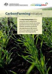 Carbon Farming Initiative booklet