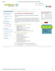 Get Accurate Pharmacist Mailing List | Pharmacist Email Addresses from Healthcare Datacenter