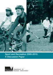 Sport and Recreation 2005-2010: A Discussion Paper - VicSport