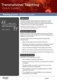 Developing lesson plans - RMIT University