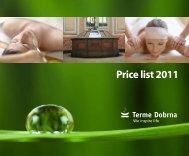 Price list 2011