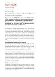 Medienmitteilung Raiffeisen - Evelyne Leu
