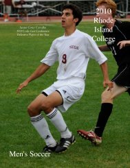 The 2010 Rhode Island College Men's Soccer Roster