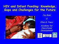 HIV and Infant Feeding: Knowledge, Gaps and ... - Linkages Project