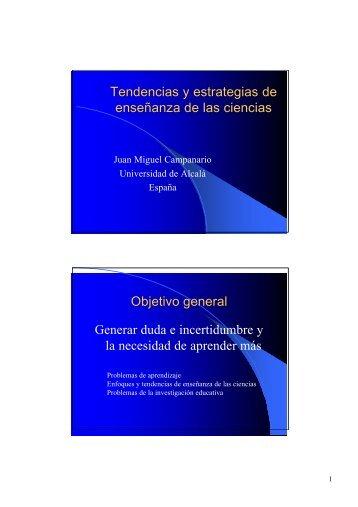 Tendencias y estrategias de enseñanza de las ciencias Objetivo ...