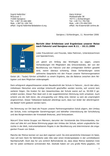 Reisebericht aus Fakovici - Pharos eV