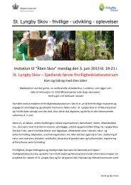 St. Lyngby Skov - frivillige - udvikling - oplevelser - Friluftsrådet