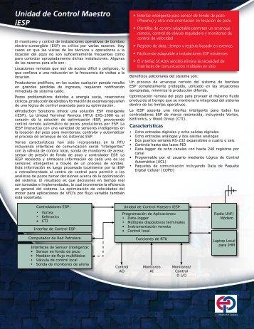 iESP Master Control Unit - Spanish - Ep-solutions.com