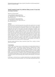 Spatial sampling design for prediction taking account of uncertain ...