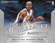 2012-2013 Panini Brilliance Basketball Product Information Sheet