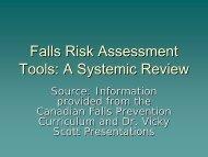 Falls Risk Assessment Tools