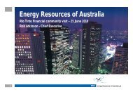 Presentation to financial community [PDF: 1.2 MB] - Energy ...