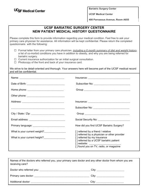 expanded New Patient Medical History Questionnaire